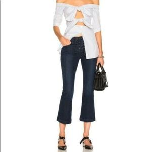 Frame Le Bell Lace Up Jean In Hayworth 24